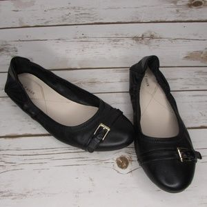 Cole Haan Black Leather Palaria Ballet Flat 8B